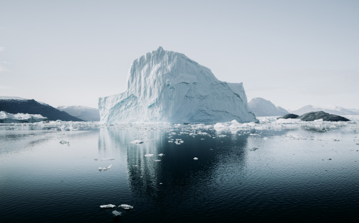 A stark photo of an iceberg, the symbol of the tool Causal Layered Analysis
