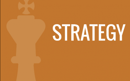 chess piece with the word strategy